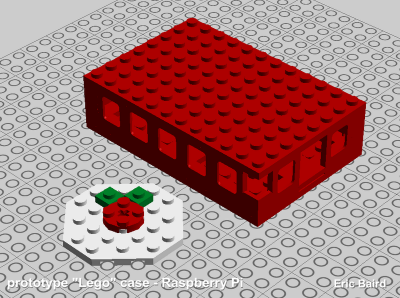 Lego case for Raspberry Pi
