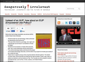 Instead of an AUP, how about an EUP (Empowered Use Policy)?